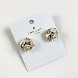 Kate Spade Large Gumdrop Clear Studs